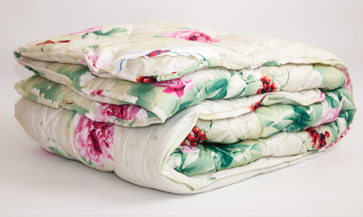 Одеяло закрытое овечья шерсть (Бязь) Полуторное T-51321, фото 2