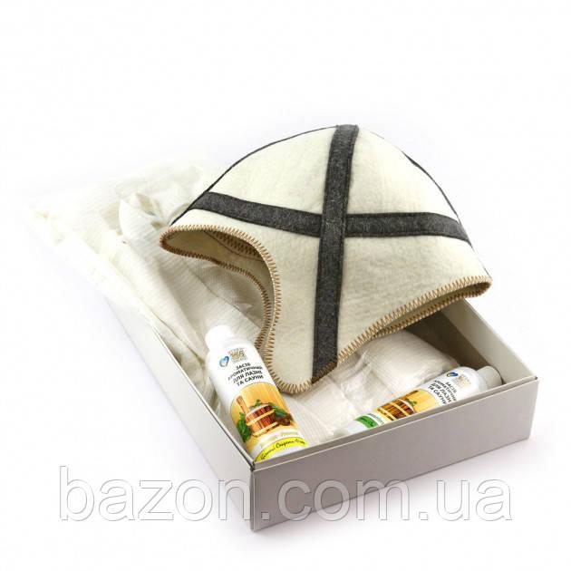 Подарочный набор для сауны мужской Luxyart №10 Рыцарь (3 предмета)