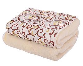 Одеяло ОТКРЫТОЕ овечья шерсть (Поликоттон) Полуторное T-51268, фото 3