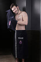 Набор для сауны и бани мужской Темно-синий Karna Home Турция 50137