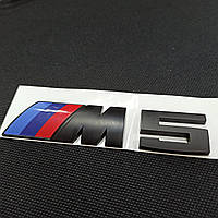 Эмблема наклейка на авто BMW M5 power black матовая