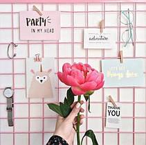Настенный органайзер Мудборд moodboard доска визуализации и планирования Прямоугольная 3060 см розовый - 189986