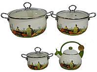 Набор эмалированной посуды Edenberg EB-3372-D -7 пр