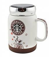 Керамічна чашка гуртка Starbucks coffee brown, 500 мл