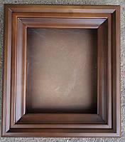 Киот для иконы ровный из ольхи, с деревянным багетом., фото 1