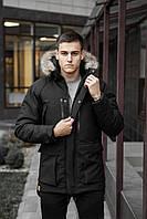 Куртка Парка зимняя мужская 'Seniora udacha' (черная)