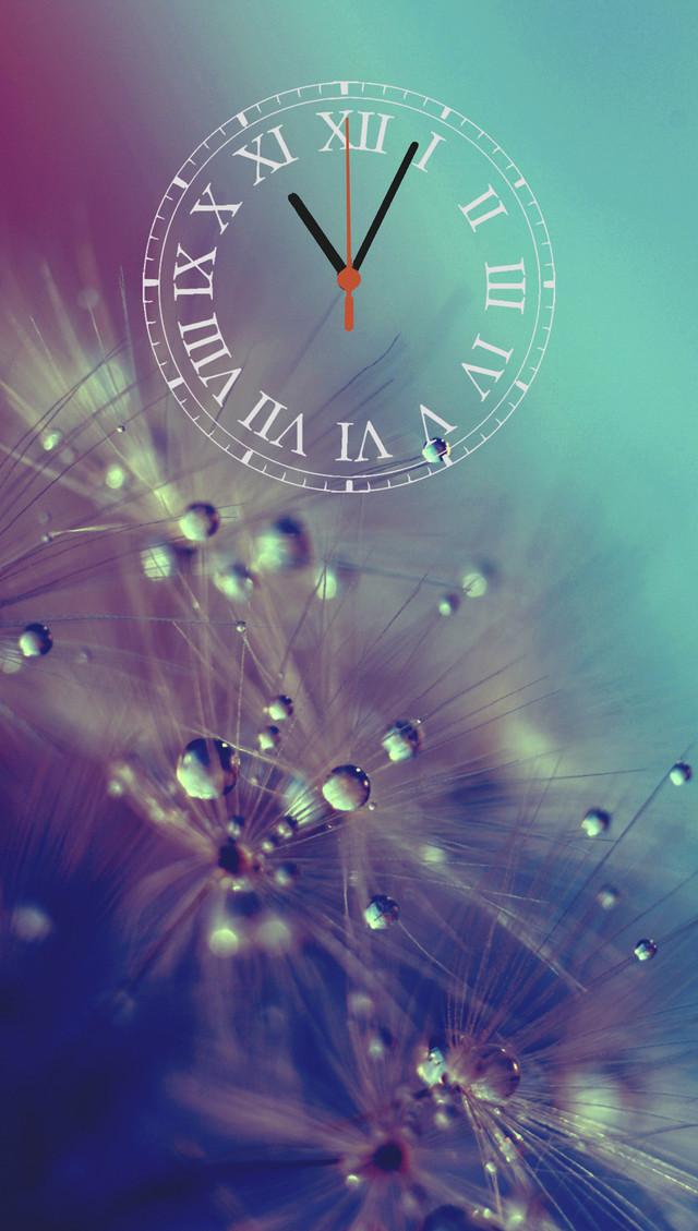 """Настенные часы-картина  """"Одуванчик"""" кварцевые с римскими цифрами"""