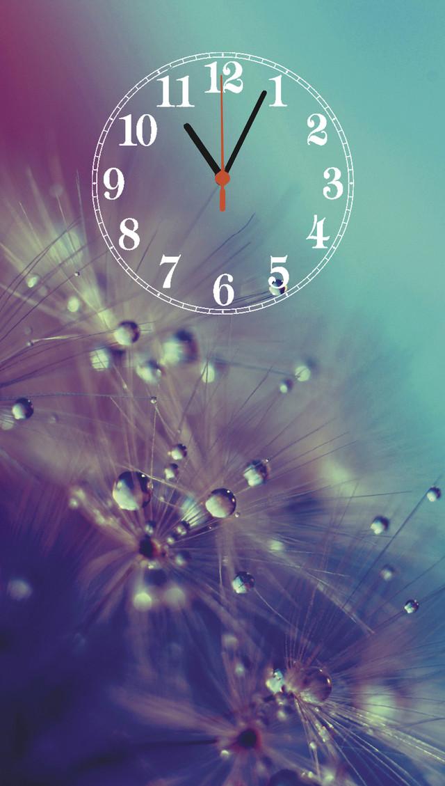 """Настенные часы-картина  """"Одуванчик"""" кварцевые с арабскими цифрами"""