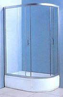 "VICTORIA-SATIN душевая кабина с глубоким поддоном 1200*800*2030 левая, стекло (4мм) ""FABRIC"" (в комп. с глуб, поддоном)"