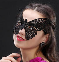 Женская карнавальная маска на глаза бабочка