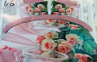 Комплект постільної білизни від українського виробника Polycotton Двоспальний T-90930, фото 2