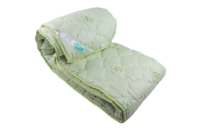 Одеяло закрытое однотонное бамбуковое волокно (Микрофибра) Полуторное T-55045, фото 2