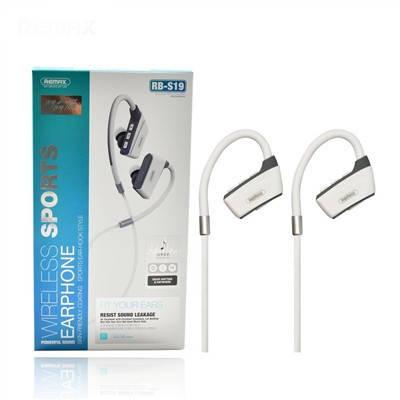 Вакуумні навушники Bluetooth Wireless Sports Remax RB-S19-White, фото 2