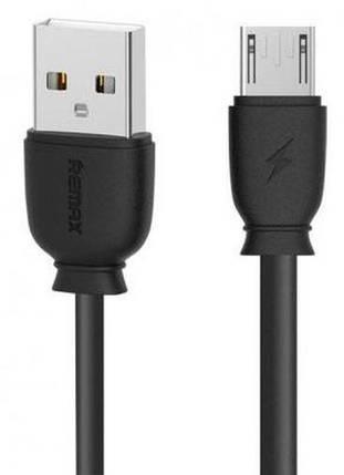 Micro USB кабель 1 м Black Remax RC-134m-Black, фото 2