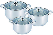 Набор посуды из нержавеющей стали 6 предметов Benson BN-213