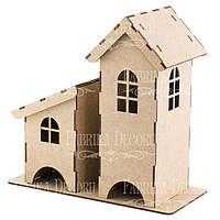 Заготовка для декорирования Фабрика Декора (ДВП 3мм) Чайный домик 26,5*28*12,5см FDPO-171