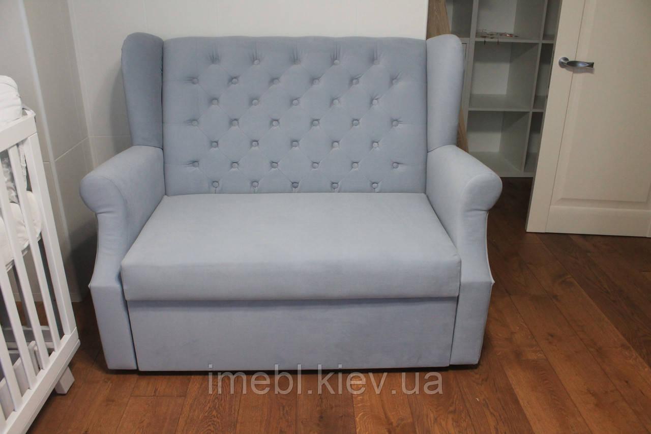 Маленький розкладний диванчик (Світло-сірий)