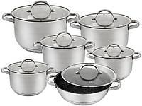 Набор посуды из нержавеющей стали Edenberg EB-2119 - 12 пр