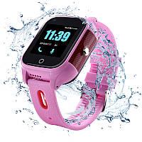 Детские смарт-часы c 4G и видеозвонком JETIX DF100 (защита от воды IP67) - pink