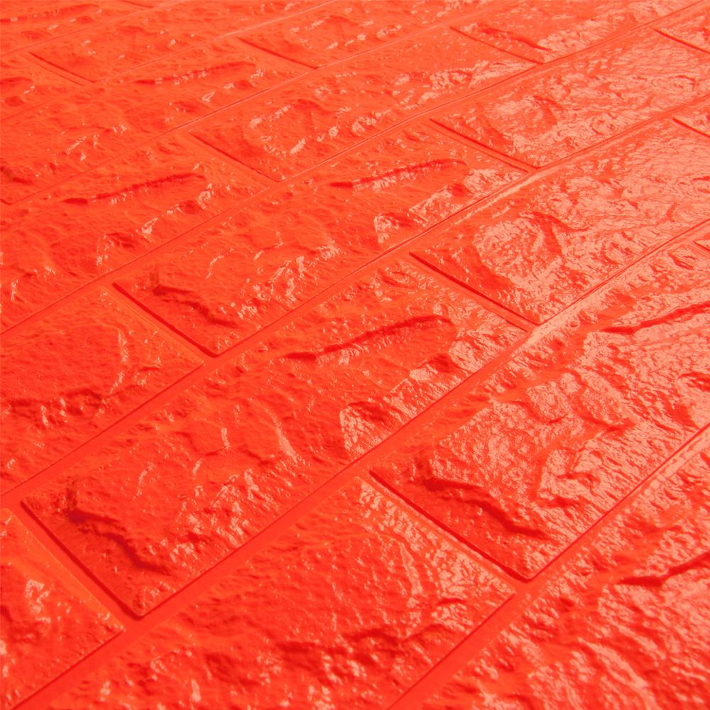 3д панель стіновий декоративний Помаранчевий цегла (самоклеючі 3d панелі для стін оригінал) 700x770x7 мм