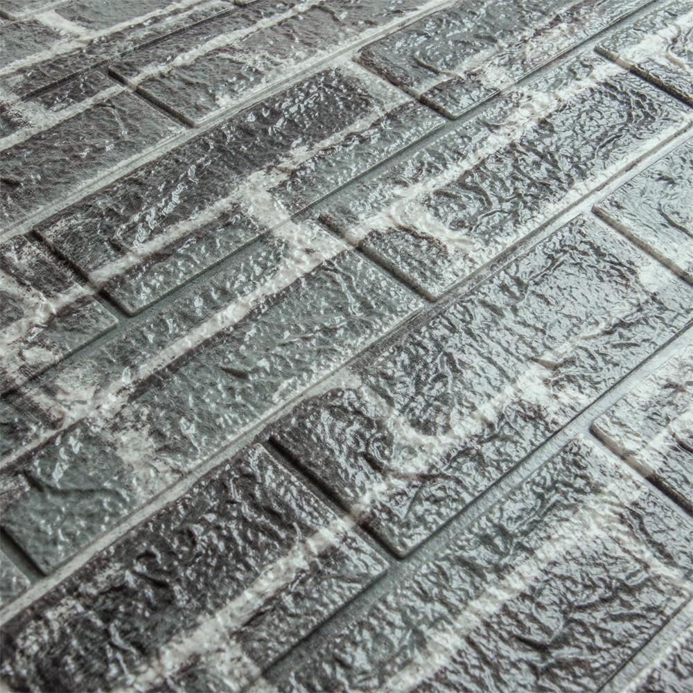 3д панель стеновой декоративный Серый Кирпич (самоклеющиеся 3d панели для стен оригинал) 700x770x7 мм
