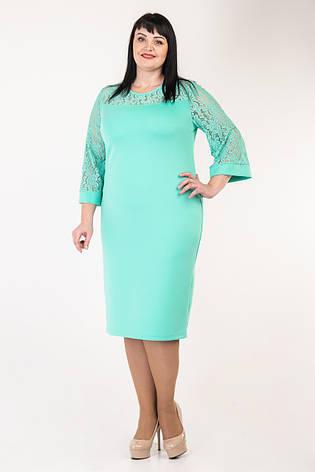 Женское платье нежного цвета  52-58 р-р, фото 2