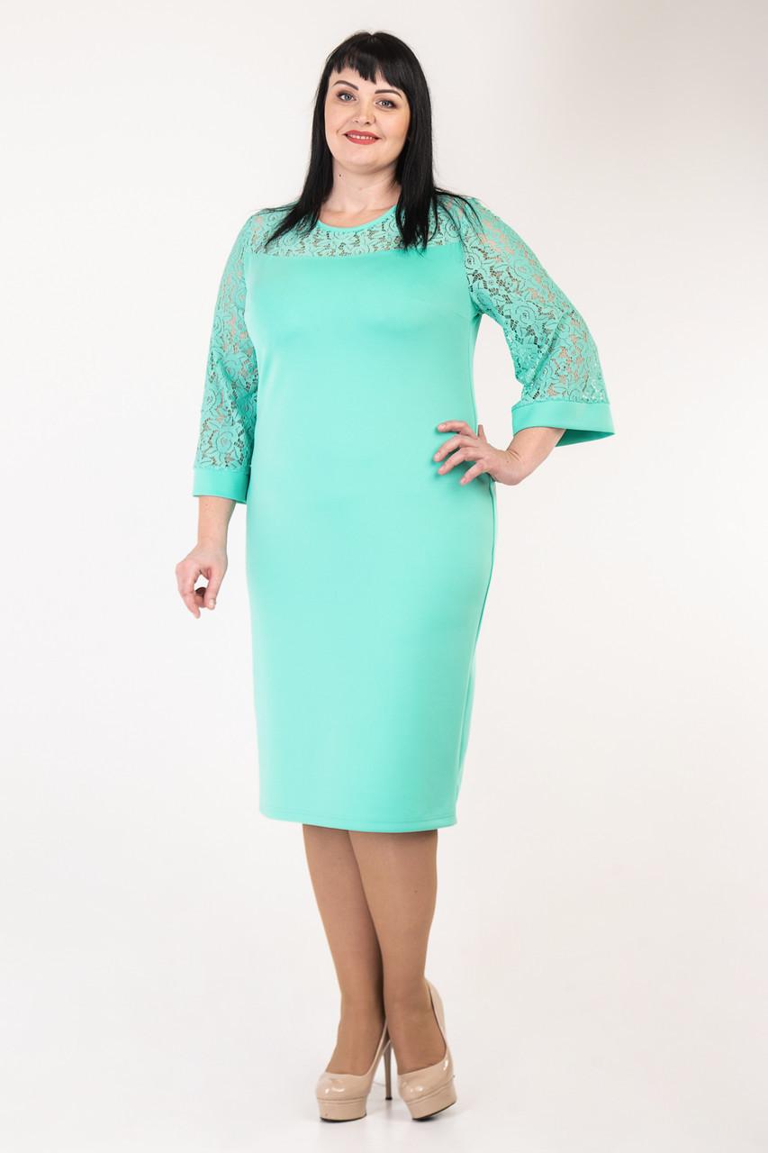 Женское платье нежного цвета  52-58 р-р