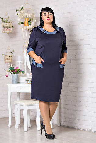 Классическое платье украшенное стразами на карманах, фото 2