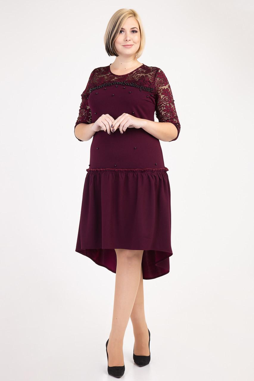 Праздничное платье украшенное бусинами