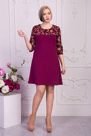 Праздничное платье украшенное флоком на рукавах, фото 2