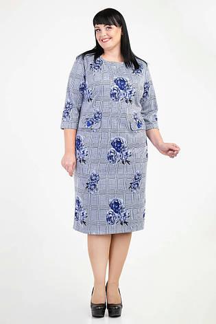 Трикотажное платье в деловом стиле, фото 2