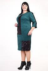 Замшевое платье украшенное пайетками, фото 3
