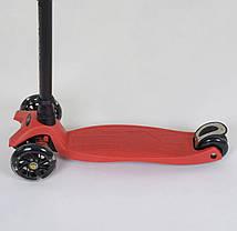 Самокат 466-113 / А 24902 Best Scooter MAXI (1) КРАСНЫЙ, пластмассовый, 4 колеса PU, СВЕТ, фото 2