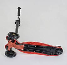 Самокат 466-113 / А 24902 Best Scooter MAXI (1) КРАСНЫЙ, пластмассовый, 4 колеса PU, СВЕТ, фото 3