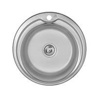 Мийка для кухні з харчової нержавіючої сталі AISI 201 WAL-D510-18-06V