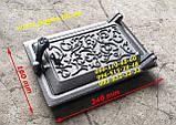 Чавунні дверцята комплект грубу, печі, барбекю, мангал чавунне литво, фото 7