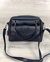 Маленькая стильная женская сумка Хлоя синего цвета