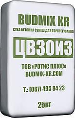Готовая смесь для жаростойкого торкретирования сухим методом BUDMIX KR ЦВ30И3 (М400) 25 кг