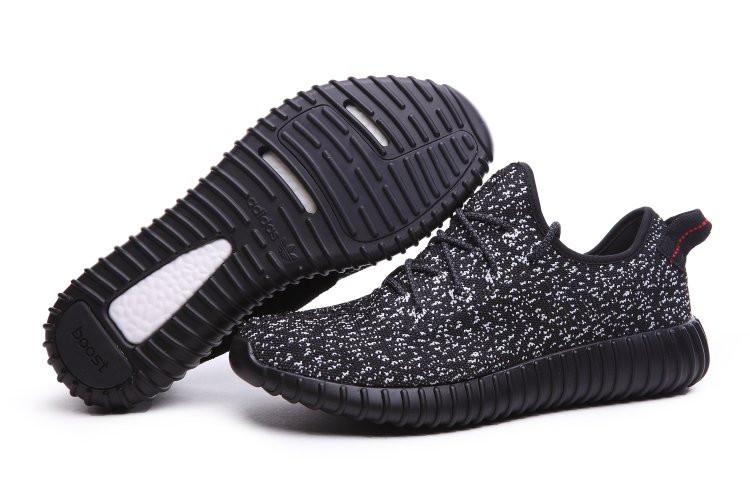 Кроссовки мужские Adidas Yeezy Boost 350 Low М02  черные космос