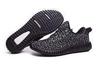Кроссовки мужские Adidas Yeezy Boost 350 Low М02  черные космос , фото 1