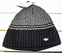 Зимняя  шапка  рубчик  на мальчика р 50-52--56, фото 1