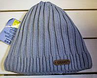 Зимова шапка рубчик на хлопчика р 48-50-52-54