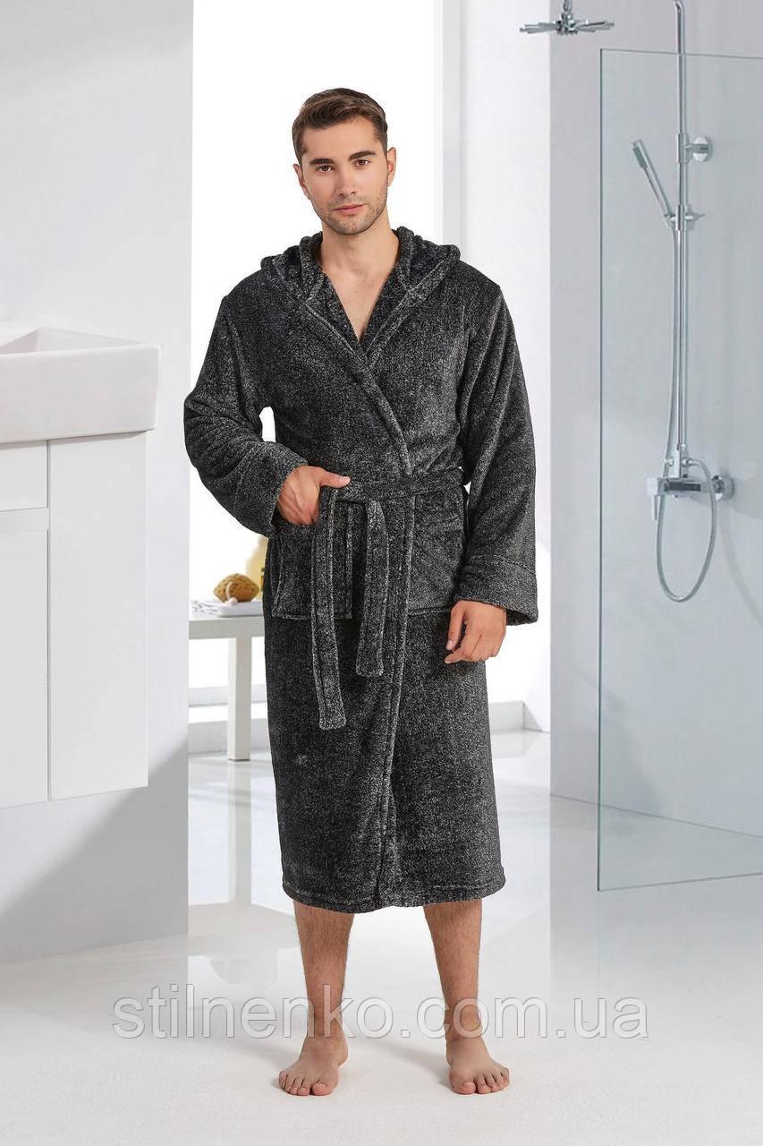 Мужской красивый халат однотонный