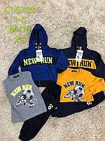 Трикотажный костюм - тройка для мальчиков S&D оптом, 1-5 лет. Артикул: CH5723