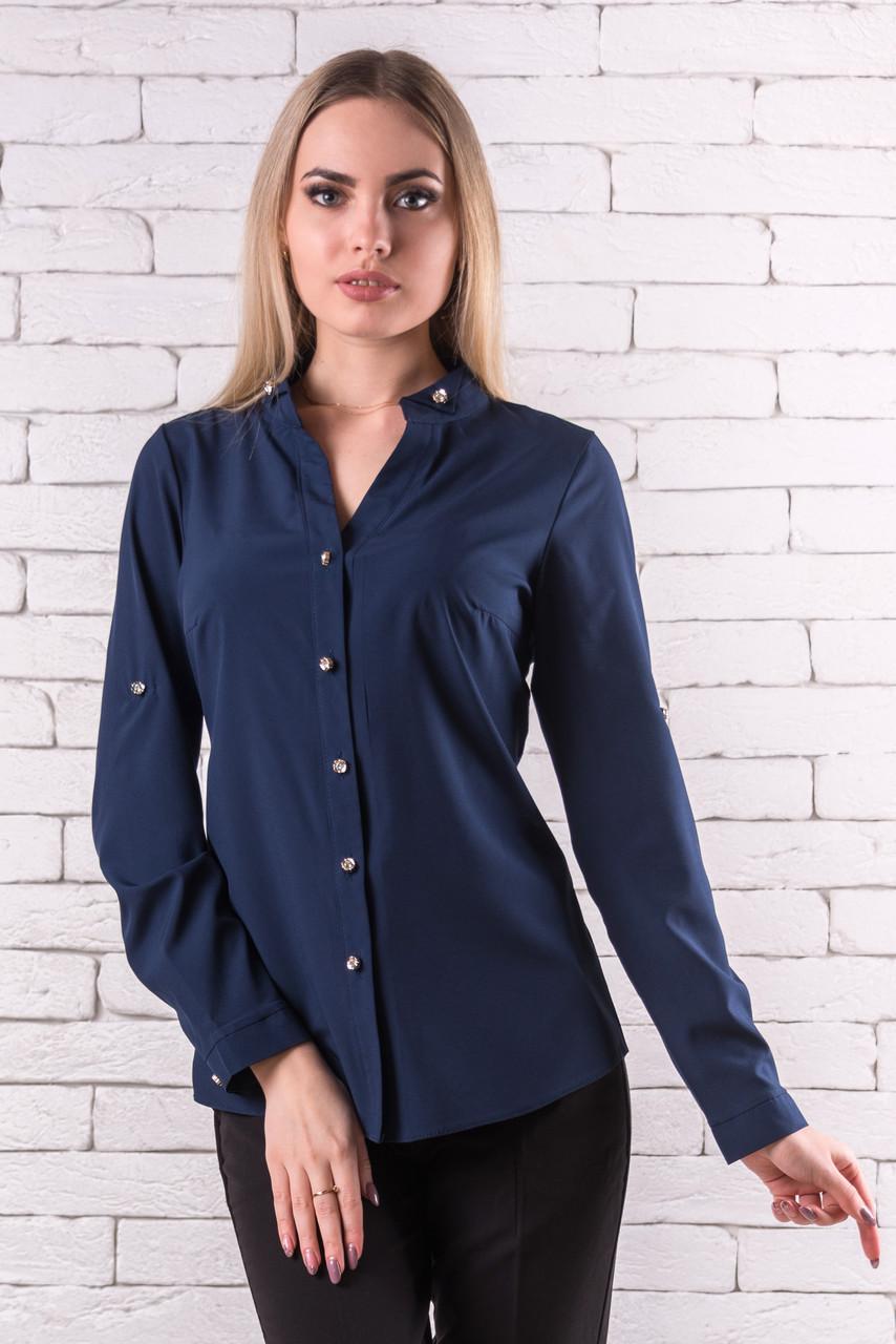 Женская блуза 42-48 темно-синий