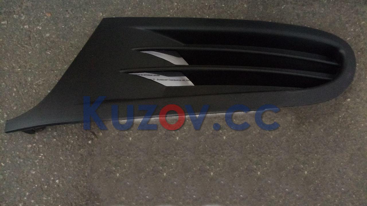 Решетка в бампер VW Golf VI '09-12 (кроме GTi) левая (FPS) без отв. 5K0853665A