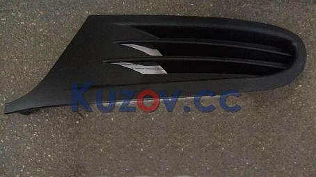 Решетка в бампер VW Golf VI '09-12 (кроме GTi) левая (FPS) без отв. 5K0853665A, фото 2