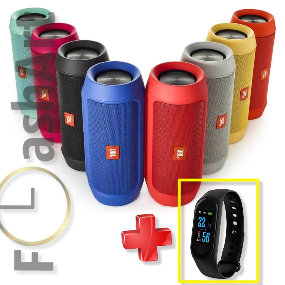 АКЦИЯ! JBL Charge 2 Портативная Bluetooth колонка + Подарок! Фитнес - браслет Xiaomi Mi Band M3