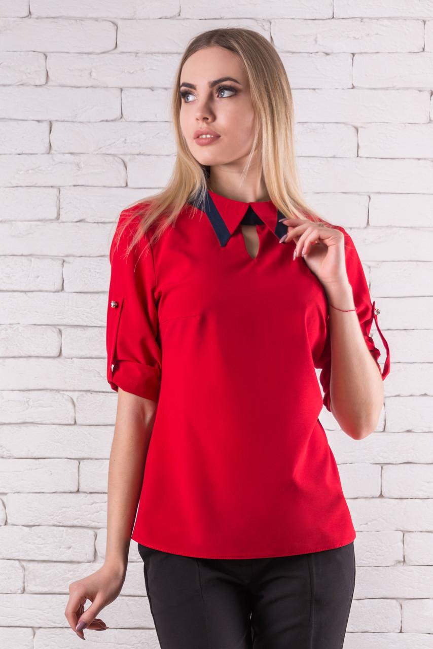 Модные блузки летние женские   42-48 красный