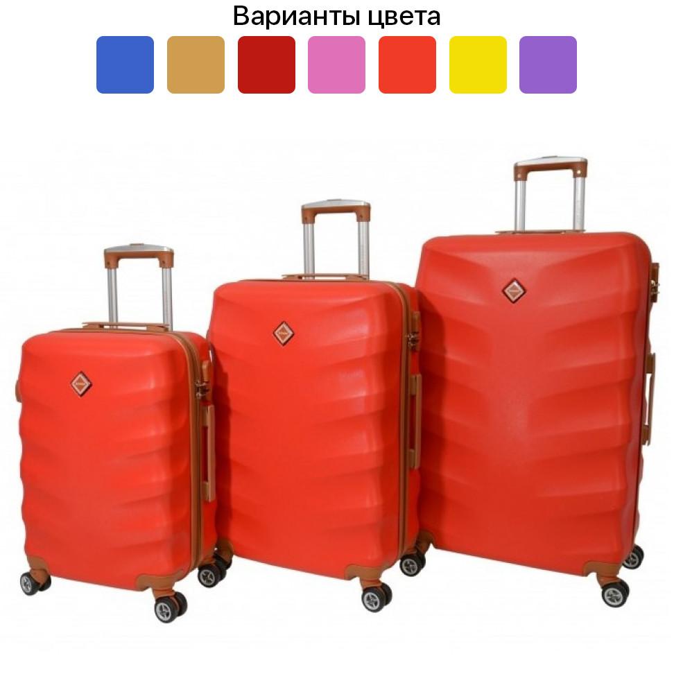 Чемодан дорожный на колесах Bonro Next, набор 3 штуки, комплект чемоданов Красный